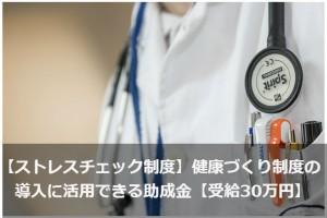 【ストレスチェック制度】健康づくり制度の導入に活用できる助成金【受給30万円】